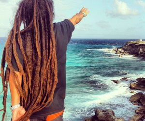 dreads, beach, and sea image