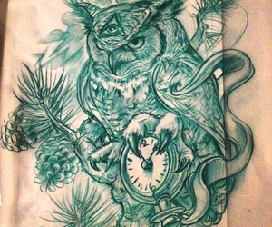 owl, draw, and tattoo image