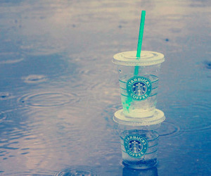 rain, starbucks, and photography image