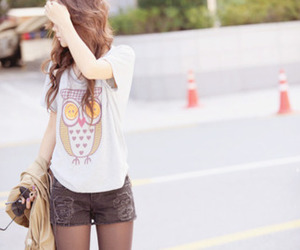 girl, fashion, and owl image