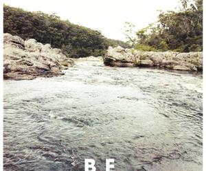 text, nature, and be brave image