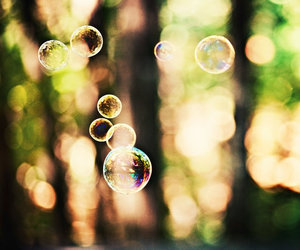 bubbles, cute, and nature image