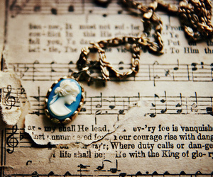 music, necklace, and jewelry image