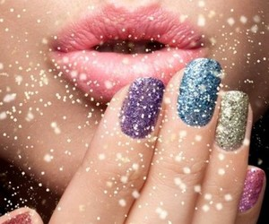 nails, lips, and kiss image