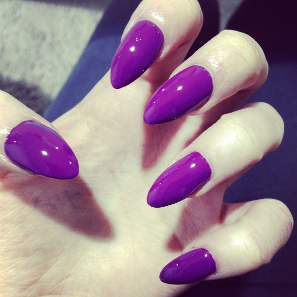 Image result for long purple fingernails