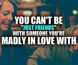 love, friends, and quote image
