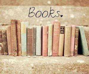 book, light blue, and light pink image