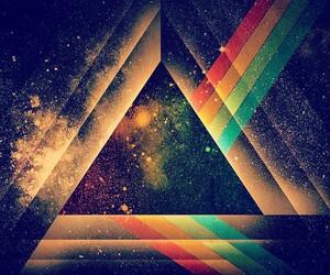 rainbow, triangle, and Pink Floyd image