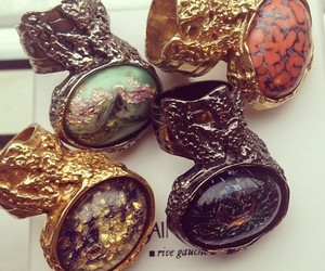 YSL, rings, and fashion image