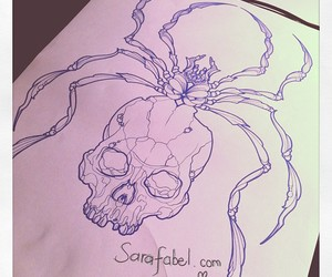 drawing, spider, and tattoo image