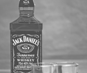 alcohol, black and white, and b&w image
