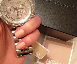 watch, Michael Kors, and nails image