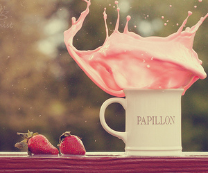 strawberry, pink, and photography image