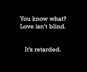 love, blind, and text image