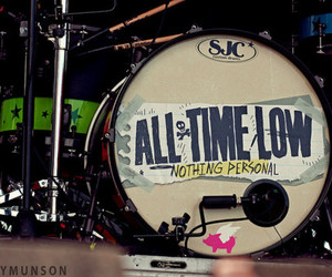 all time low, drums, and nothing personal image