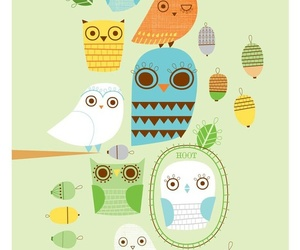owl, illustration, and cute image