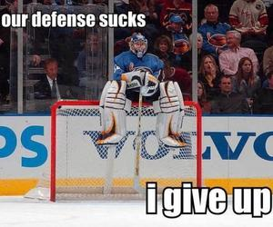 hockey, goalie, and funny image