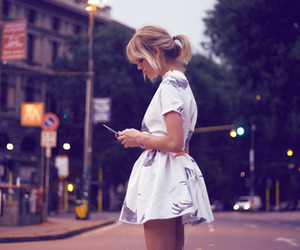 girl, dress, and blonde image
