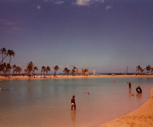 beach, beautiful, and film image