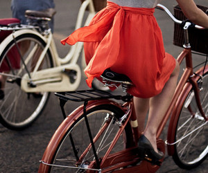 bike, skirt, and bicycle image