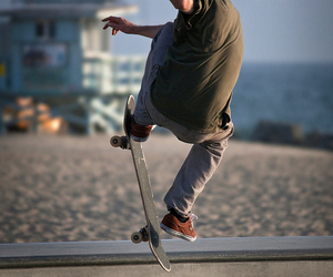 beach, photography, and skater image