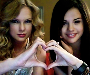 Taylor Swift, selena gomez, and heart image