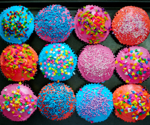 colors, stars, and cupcakes image