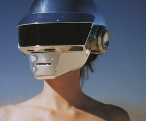 daft punk, helmet, and robot image