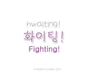 hangul, fighting, and korea image