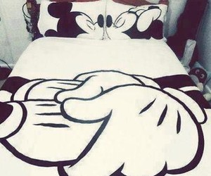 bed, minnie, and mickey image