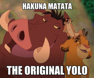 hakuna matata, no worries, and yolo image