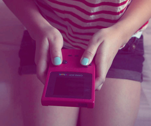 fashion, girl, and gameboy image