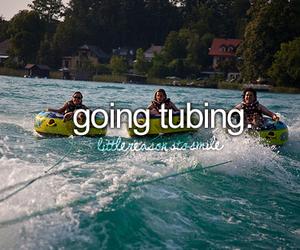 tubing, sea, and summer image