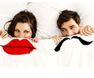 lips, mustache, and woman image
