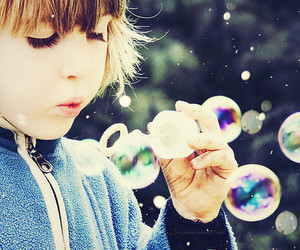 bubbles and child image