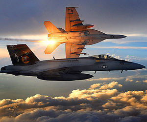 airplane, fighter jet, and fa-18 image
