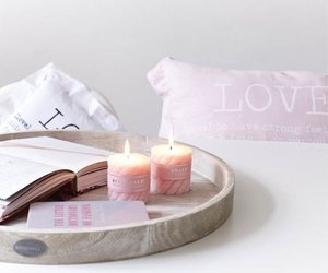 pink, candle, and love image