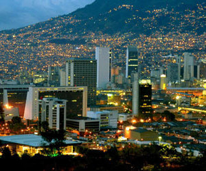 city, colombia, and night image