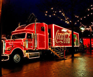 coca cola, christmas, and winter image
