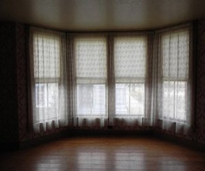curtains, room, and window image
