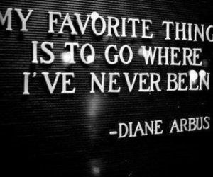 quote, Diane Arbus, and text image