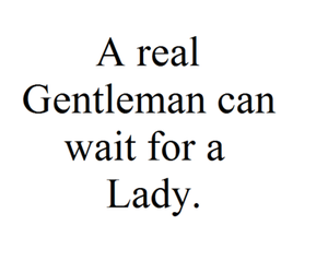 lady, gentleman, and quote image