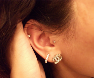 cc, earing, and earrings image