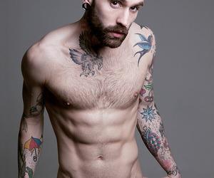 beard, naked, and Hot image