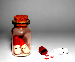 bottle, drugs, and pills image