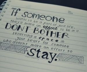 quotes, stay, and don't bother image