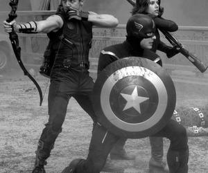 captain america, black widow, and Marvel image