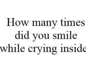smile, cry, and quote image