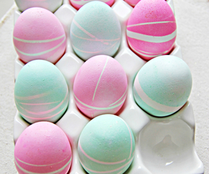 easter, eggs, and pastel image