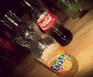 bottles, drinks, and coca-cola image